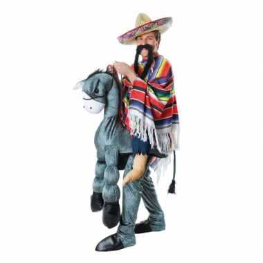 Instap carnavalspak mexicaan op ezel