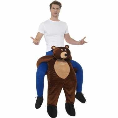 Instap dierencarnavalspak beer voor volwassenen