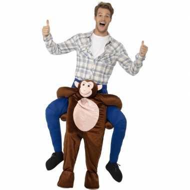 Instap dierenpak carnavalspak aap voor volwassenen