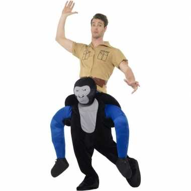 Instap dierenpak carnavalspak gorilla voor volwassenen