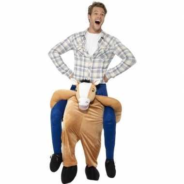 Instap dierenpak carnavalspak paard voor volwassenen