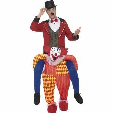 Instapcarnavalspak circus clown voor volwassenen