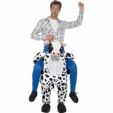 Instapcarnavalspak koe voor volwassenen