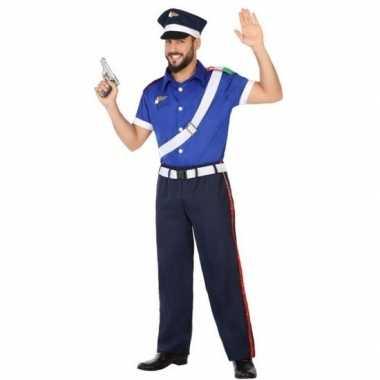 Italiaanse politie verkleed pak/carnavalspak voor volwassenen