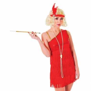 Jaren 20 carnavalspak rood jurkje