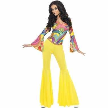 Jaren 60 70 hippie carnavalspak voor dames