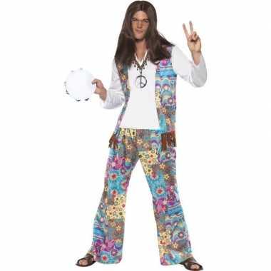 Jaren 60 hippie carnavalspak groovy voor heren