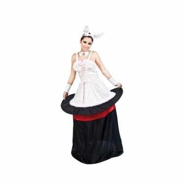 Konijn in hoed dames carnavalspak