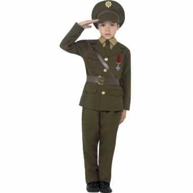 Leger officier verkleed carnavalspak voor kids