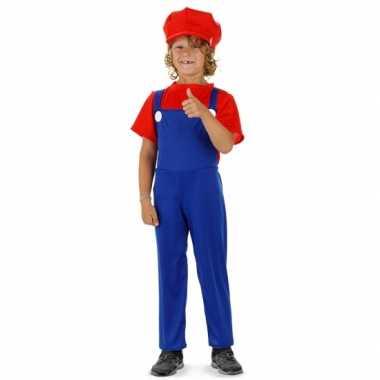Loodgieter carnavalspak rood voor jongens
