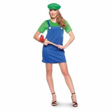 Luigi dames carnavalspak