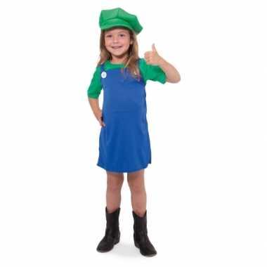 Luigi meisjes carnavalspak
