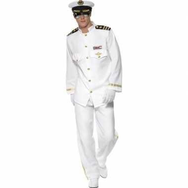 Luxe kapitein carnavalspak voor heren