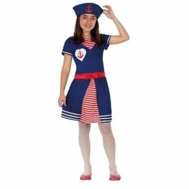 Matrozen verkleed jurkje/carnavalspak voor meisjes