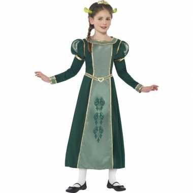 Meisjes groene prinses fiona shrek carnavalspak
