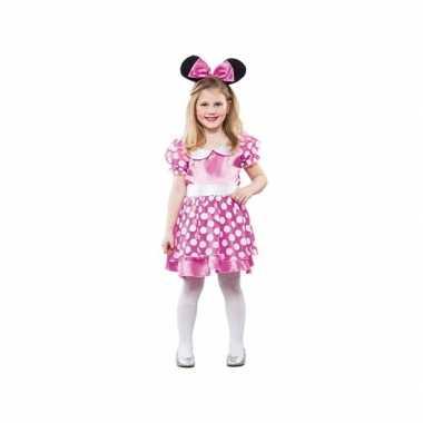 Meisjes roze muis carnavalspak