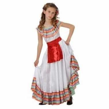 Mexicaans meisje carnavalspak met rood schortje