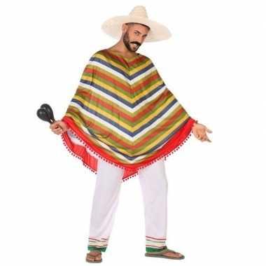 Mexicaans verkleed carnavalspak/poncho voor heren
