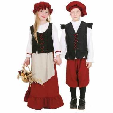 Middeleeuws meisjes carnavalspak