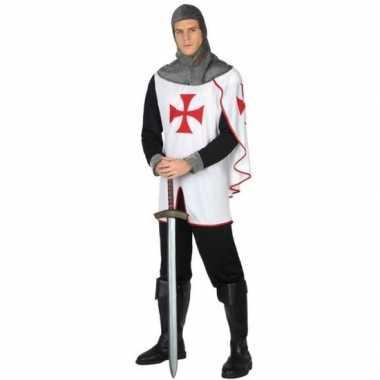 Middeleeuwse kruistocht ridder verkleed carnavalspak voor heren