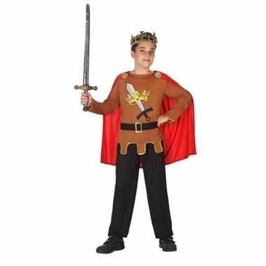 Middeleeuwse ridder/koning arthur verkleed carnavalspak jongens