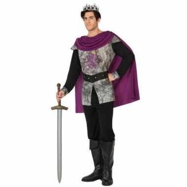 Middeleeuwse ridder/koning verkleed carnavalspak voor heren