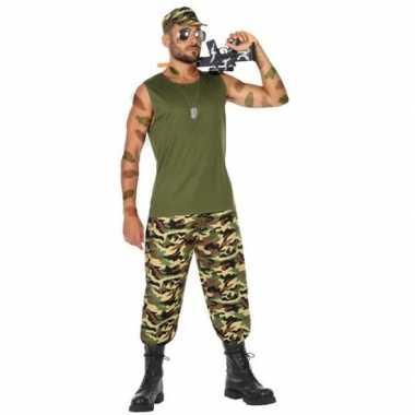 Militair/soldaat verkleed pak/carnavalspak voor heren