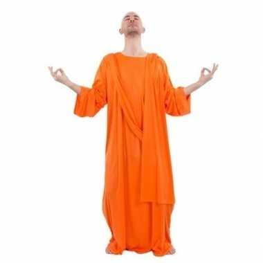 Monnik carnavalspak oranje voor heren