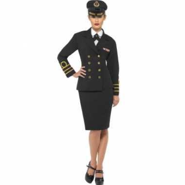 Navy officiers carnavalspak voor dames