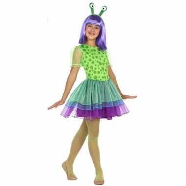 Neon alien carnavalspak voor meisjes