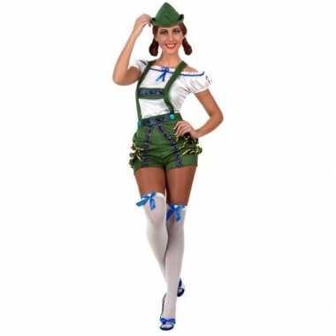Oktoberfest sexy oktoberfest verkleed pak/carnavalspak groen voor dam