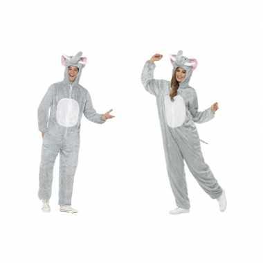 Olifant onesie carnavalspak voor volwassenen