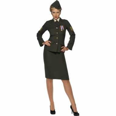 Oorlog officier carnavalspak voor dames