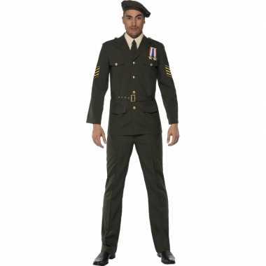 Oorlog officier carnavalspak