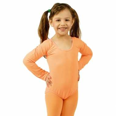 Oranje kinder ballet carnavalspak