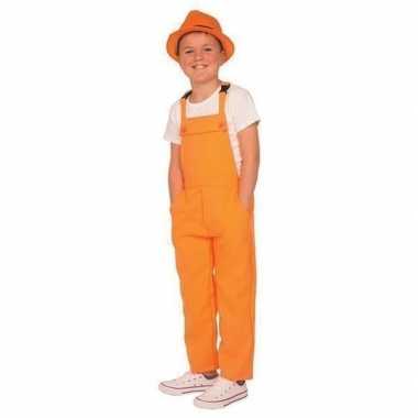 Oranje tuinbroek/carnavalspakl voor kinderen
