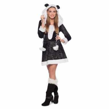 Panda dierencarnavalspak jurkje voor dames