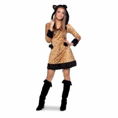 Panter dierencarnavalspak jurkje voor dames