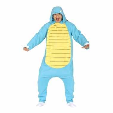 Party blauwe cartoon verkleedcarnavalspak voor volwassenen