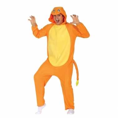 Party oranje cartoon verkleedcarnavalspak voor volwassenen