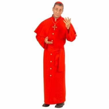Paus carnavalspak rood