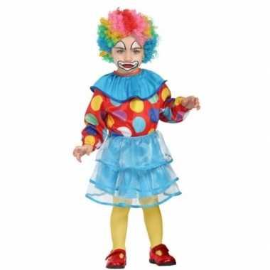 Peuter meisjes carnavalspak clown