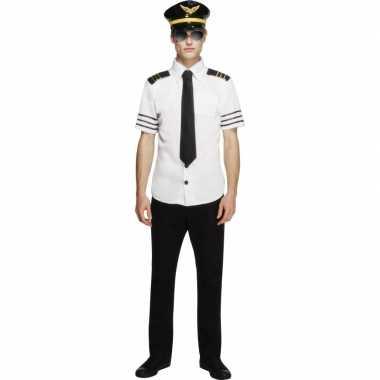 Piloten carnavalspak heren