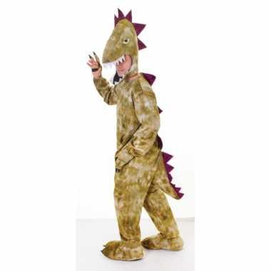Pluche dinosaurus carnavalspak volwassenen