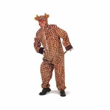 Pluche giraffe carnavalspaks