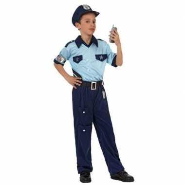 Politie agent pak / verkleed carnavalspak voor jongens