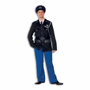Politie carnavalspak polyester voor heren