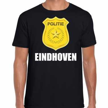 Politie embleem eindhoven carnaval verkleed t shirt zwart voor heren