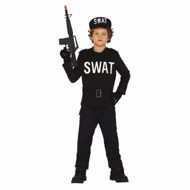 Politie swat verkleed carnavalspak voor jongens meisjes