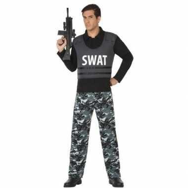 Politie swat verkleed pak/carnavalspak voor volwassenen